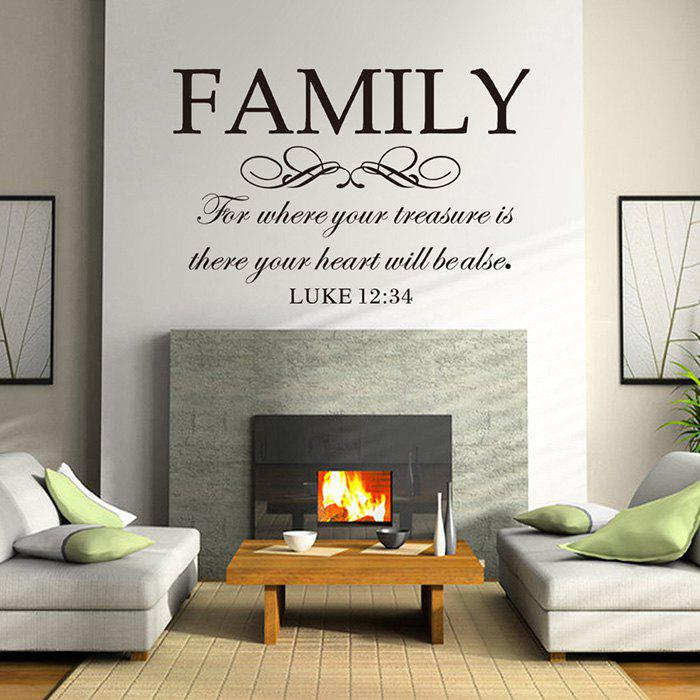Outfits English Word Style Wall Sticker Decoration for Living Room Bedroom