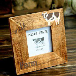 Retro Pine Photo Frame Home Table Decor -