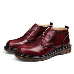 Men Stylish Casual High-top Leather Shoes -