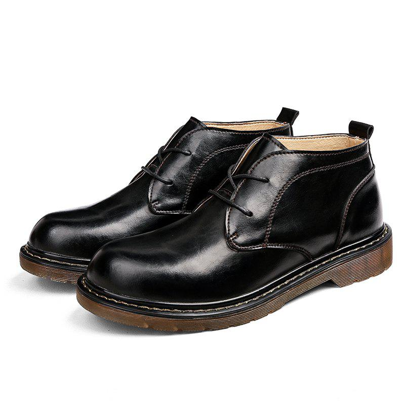 Outfits Men Stylish Casual High-top Leather Shoes