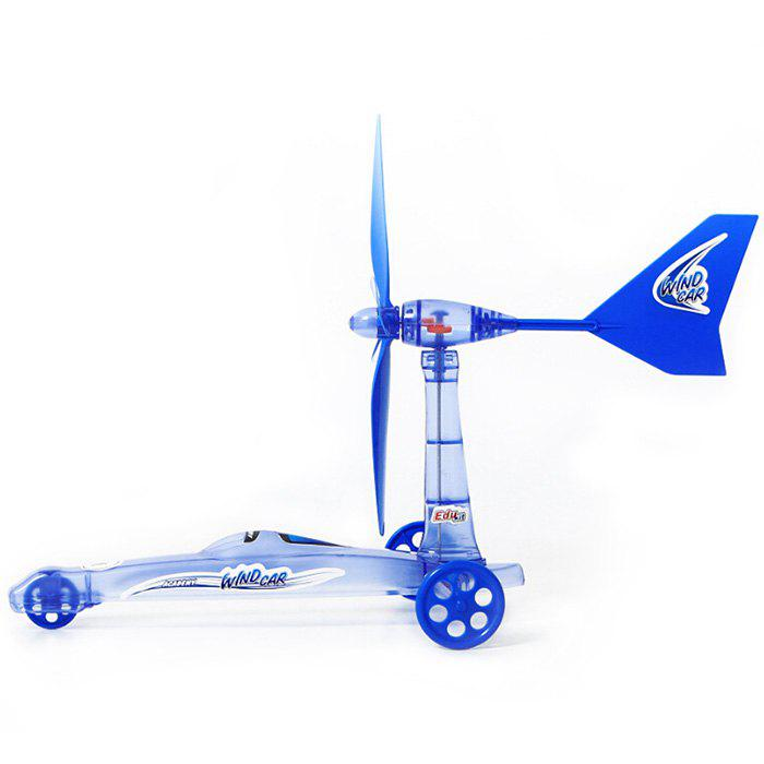 Chic DIY Assembly Creative Wind Power Car Windmill Educational Toy Kit for Kids
