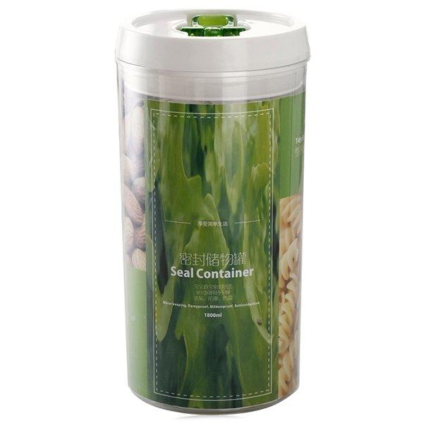 Contacted Easy Lock Kitchen Cylinderical Seal Container Food Storage Airtight Canister