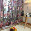 Flower Pattern Window Screen Sheer Curtain with Stick Holes -