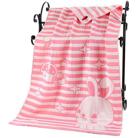 Unique Cotton Bunny Bath Towel with Three-layer Gauze