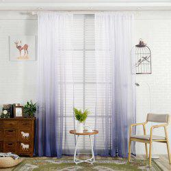 Color-gradient Pattern Window Screen Sheer Curtain -