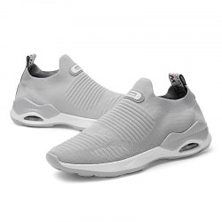 Round Toe Breathable Pure Color Casual Sports Shoes for Men -