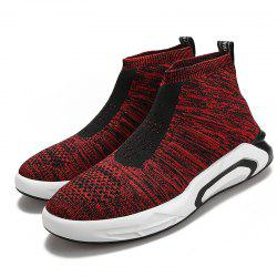 Men Round Toe Breathable High-top Casual Shoes -