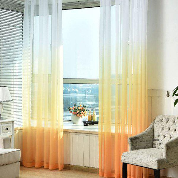 Latest Color-gradient Pattern Window Screen Sheer Curtain