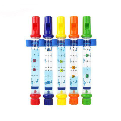 Fashion Water Flutes Bath Tub Tunes Toy Kids Children Colorful Fun 5pcs 1 Row New Music