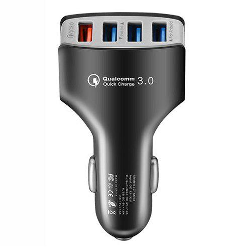 Affordable 4 Ports QC3.0 Fast Charging Car Charger for Smartphone / Camera / Digital Devices