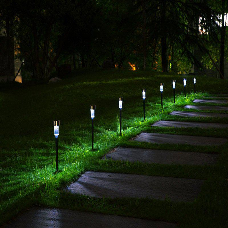 Unique Stainless Steel Solar Lawn LED Light Garden Tube Lamp 10pcs