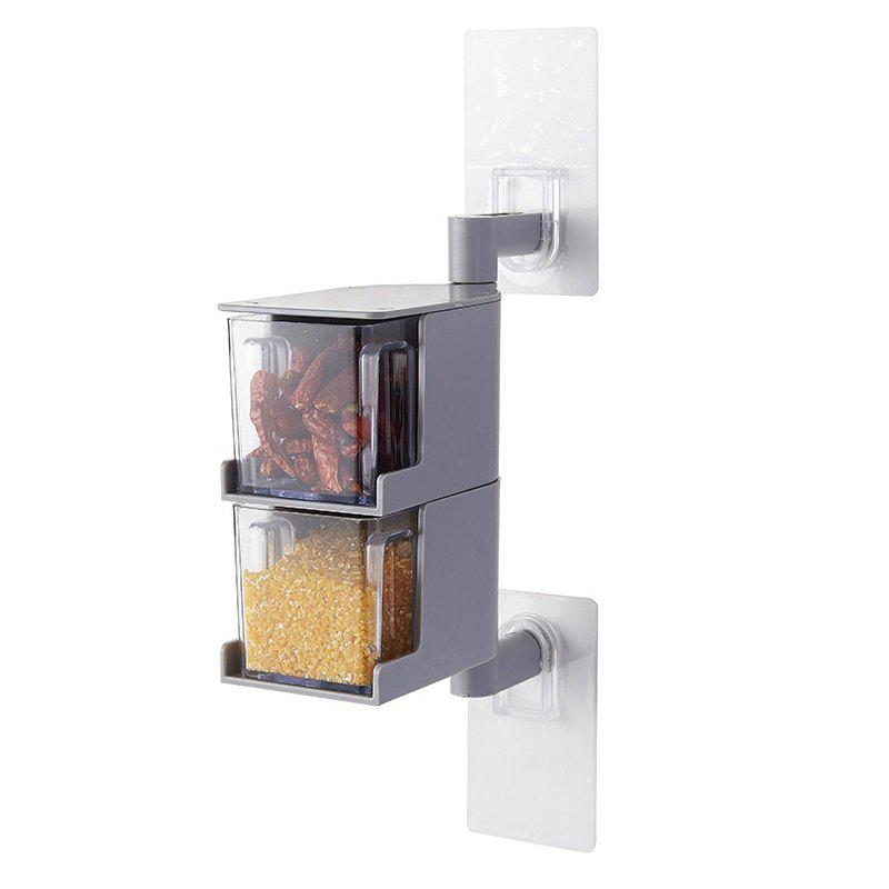 Sale Wall-mounted Rotatable Seasoning Box Multilayer Condiment Case