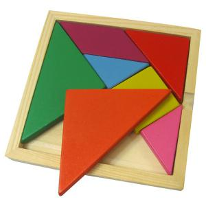 Educational Colorful Wooden Tangram Puzzle Toy Set -