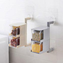 Wall-mounted Rotatable Seasoning Box Multilayer Condiment Case -