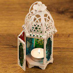 European Stained Glass Castle Lantern Home Decor Wind Lamp -