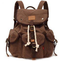Stylish Outdoor Large Capacity Durable Canvas Backpack -
