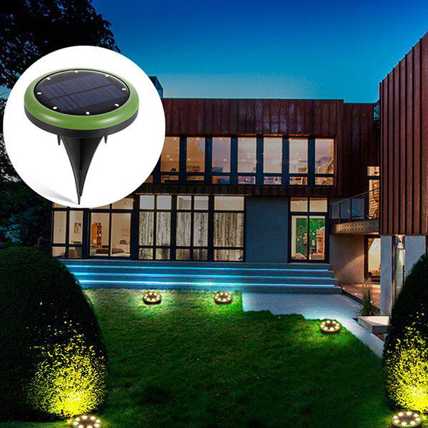 Shops Round LED Solar Light Outdoor Garden Ground Lamp 2pcs