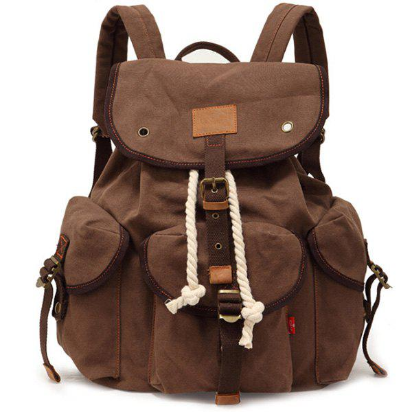 Trendy Stylish Outdoor Large Capacity Durable Canvas Backpack