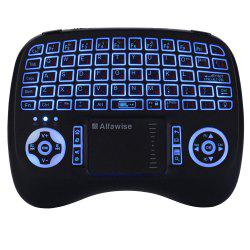 Alfawise KP - 810 - 21T - RGB 2.4G Wireless Keyboard with Touchpad Mouse -