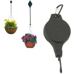 Hanging Basket Pull Down Hanger Pulley Plant Pots Hanging Basin with Retractable Hook -