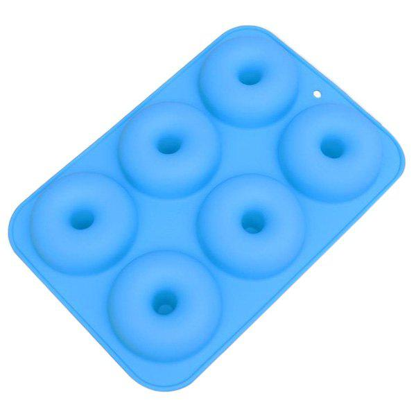Buy 6-hole Silicone Donuts Mold with Round Shape Cake Chocolate Decoration Baking Pastry Tool