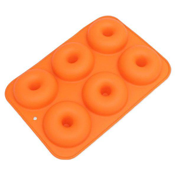 Unique 6-hole Silicone Donuts Mold with Round Shape Cake Chocolate Decoration Baking Pastry Tool