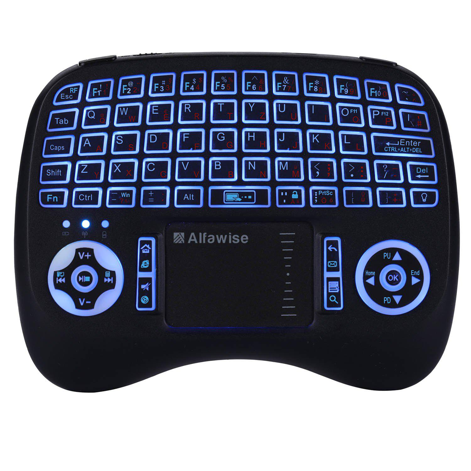 Shops Alfawise KP - 810 - 21T - RGB 2.4G Wireless Keyboard with Touchpad Mouse