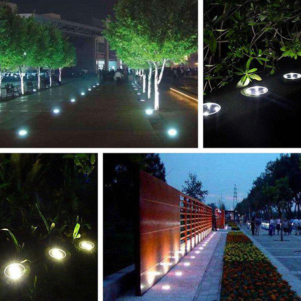 Discount 8 LED Solar Power Ground Light Outdoor Garden Lawn Lamp