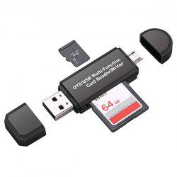 2 in 1 Multifunction SD / TF OTG Card Reader for USB / Micro USB Devices -