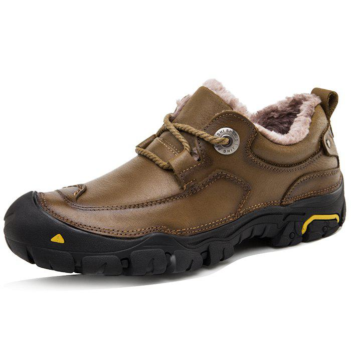 Trendy Anti-slip Breathable Outdoor Winter Casual Leather Shoes for Men