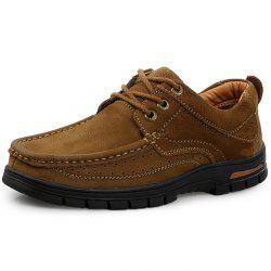 Men Leisure Anti-slip Handcrafted Leather Casual Shoes -