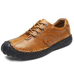 Anti-slip Crash-proof Breathable Outdoor Casual Leather Shoes for Men -