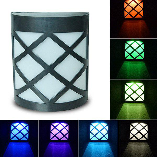 Fancy Seven Color Solar Light Wall-mounted Garden Decoration Lamp
