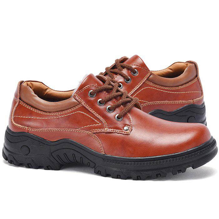 Fashion Breathable Winter Anti-slip Outdoor Casual Leather Shoes for Men