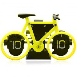 Fashionable Bicycle Shape Automatic Flip Digital Alarm Clock Vintage Horologe -