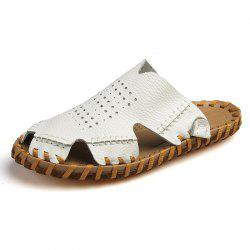 Men Fashion Round Toe Breathable Casual Slippers -