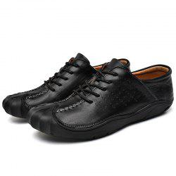 Round Toe Breathable Casual Leather Shoes for Men -