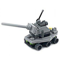 DIY Mini Tank Style Military Construction Toy Car Building Blocks for Kids Toddlers -