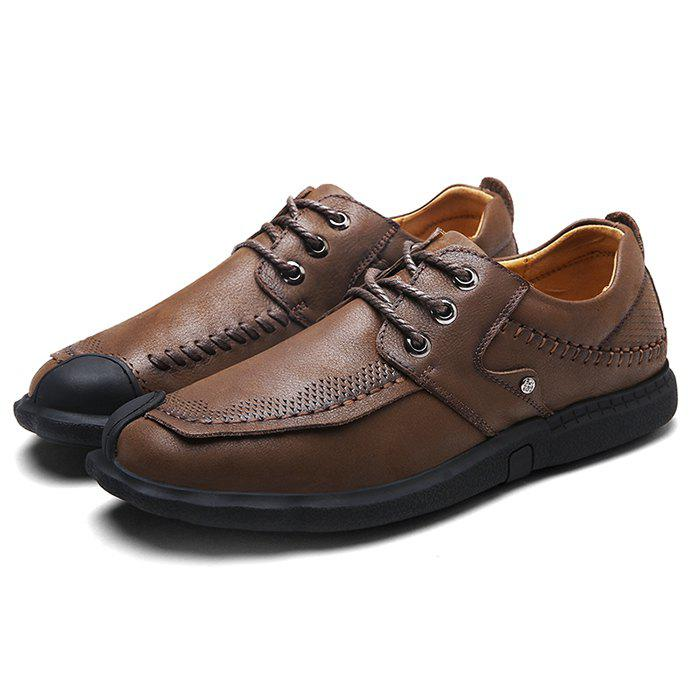 Trendy Crash-proof Anti-slip Breathable Outdoor Casual Leather Shoes for Men