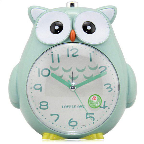Shops Cute Cartoon Owl Design Alarm Clock with Night Light Function