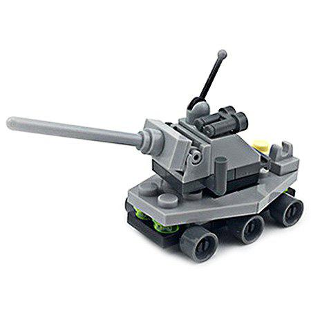 Online DIY Mini Tank Style Military Construction Toy Car Building Blocks for Kids Toddlers