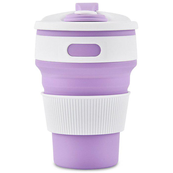 Outfit 350ml Collapsible Silicone Water Bottle Portable Coffee Tea Mug Travel Hiking Drinkware