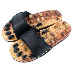 Pebble Massage Slippers Male and Female Health Foot Point Indoor -