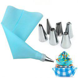 8 Pieces Cake Tools 6 Head Stainless Steel Mounted Silicone -