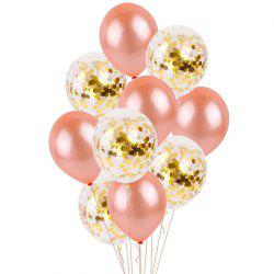 Stylish Aluminum Foil + Latex Balloon for Wedding Party 10pcs -