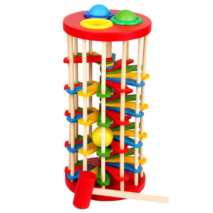 Outfit Wooden Knock Ball Ladder Toy for Children