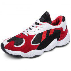 Trendy Splicing Breathable Anti-slip Leisure Sports Shoes for Men -