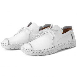 Anti-slip Breathable Outdoor Slip-on Casual Leather Shoes для мужчин - Белый 41