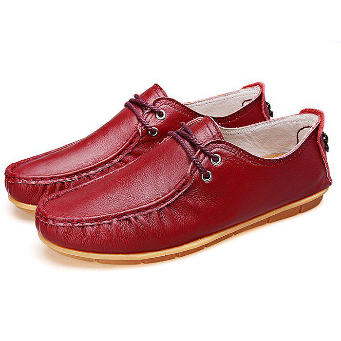 Chic Solid Color Anti-slip Breathable Outdoor Casual Leather Shoes for Men