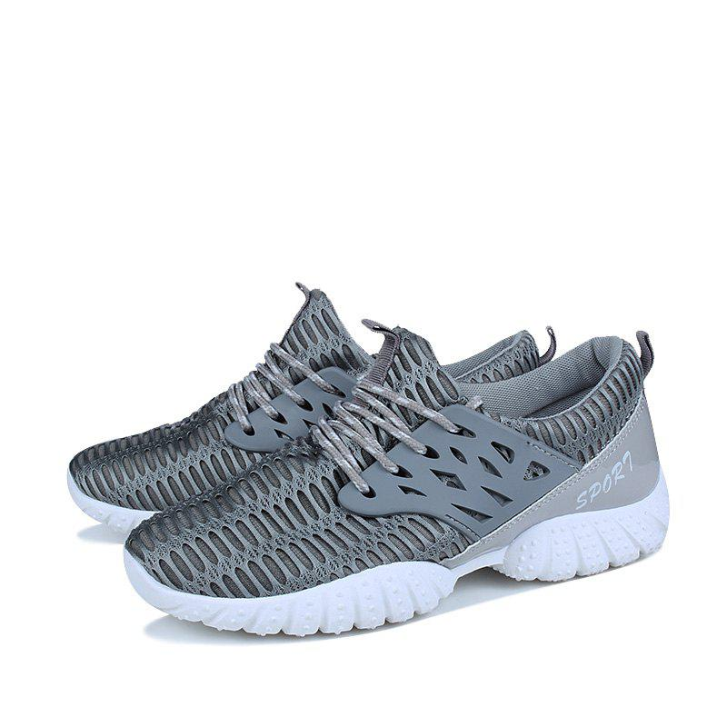Fancy Fashion PU Breathable Upper Sports Shoes for Men